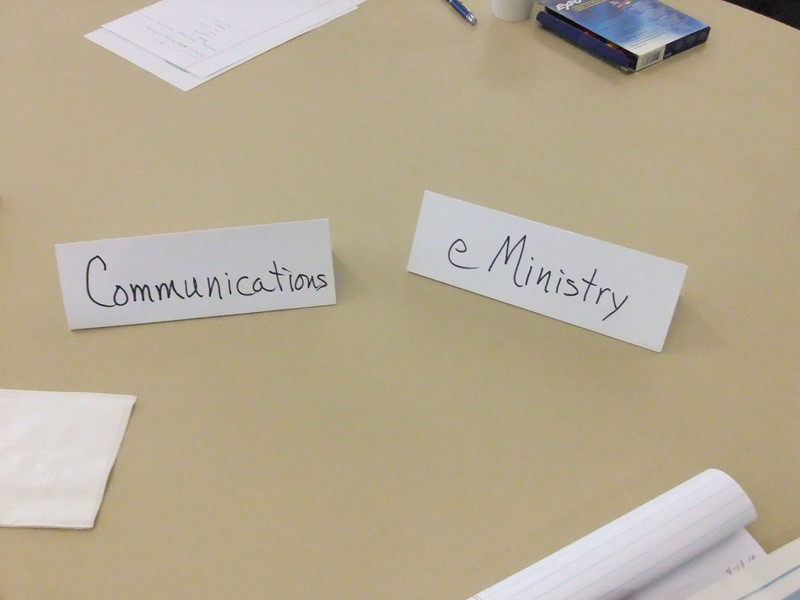 Likewise, Communications matched up nicely with eMinistry, which supports communications by electronic methods.