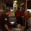 We walked through the ambulance.