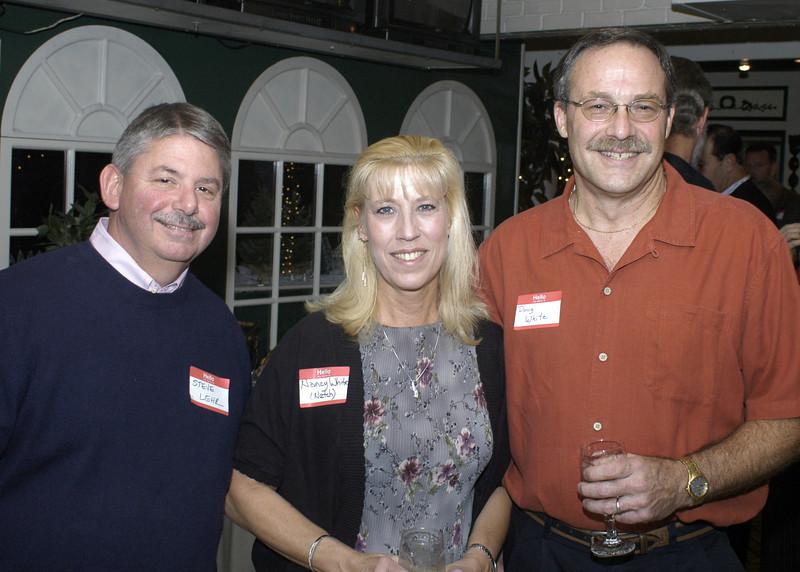 Steve Lehr on left, Doug White on the right, with Doug's wife Nancy.