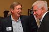 Ted Duggan with former baseball coach Rhett Ross.