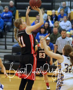 Sophomore Sidney Howland goes up for a shot in the first half of the Sub-State game between El Dorado and Circle.