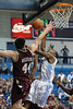 Charleston Cougars forward TRENT WIEDEMAN (44) blocks Citadel Bulldogs guard JANEIL JENKINS (3) as he shoots the ball in the first half of an NCAA basketball game between Charleston Cougars and the Citadel bulldogs at McAlister Field House.