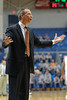 Charleston Cougars head coach DOUG WOJCHIK reacts in the first half of an NCAA basketball game between Charleston Cougars and the Citadel bulldogs at McAlister Field House.