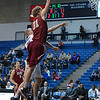 Elon Phoenix forward LUCAS TROUTMAN (31) goes for the layup in an NCAA basketball game between Elon Phoenix and the Citadel Bulldogs at McAlister Field House.  Elon defeated the Citadel 70-66.
