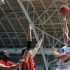 Citadel Bulldogs forward C.J. Bray (25) shoots over a Radford defender during an NCAA basketball game at McAlister Field House.