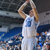 Citadel Bulldogs guard/forward Matt Van Scyoc (30) take a 3 point shot in an NCAA basketball game against the Radford Highlanders at McAlister Field House.