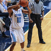 Citadel Bulldogs guard Marshall Harris III (10) looks to pass in an NCAA basketball game against the Radford Highlanders at McAlister Field House.