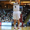 Charleston Cougars guard ANDREW LAWRENCE (4) drains a three pointer in an NCAA basketball game between UNCG Spartans and the College of Charleston Cougars, Saturday Feb 2, 2013 at TD Arena. (Shane Roper/Special to The Post and Courier)
