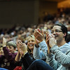 Fans react to the cheerleaders in an NCAA basketball game between UNCG Spartans and the College of Charleston Cougars, Saturday Feb 2, 2013 at TD Arena. (Shane Roper/Special to The Post and Courier)