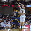 Charleston Cougars forward MATT SUNDBERG (5) shoot a three pointer in an NCAA basketball game between UNCG Spartans and the College of Charleston Cougars, Saturday Feb 2, 2013 at TD Arena. (Shane Roper/Special to The Post and Courier)