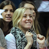 A fan looks on in an NCAA basketball game between UNCG Spartans and the College of Charleston Cougars, Saturday Feb 2, 2013 at TD Arena. (Shane Roper/Special to The Post and Courier)