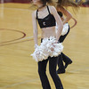 A member of the Cougar dance team performs during a timeout in an NCAA basketball game between UNCG Spartans and the College of Charleston Cougars, Saturday Feb 2, 2013 at TD Arena. (Shane Roper/Special to The Post and Courier)