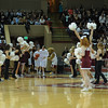 The Charleston Cougars enter the arena at an NCAA basketball game between UNCG Spartans and the College of Charleston Cougars, Saturday Feb 2, 2013 at TD Arena. (Shane Roper/Special to The Post and Courier)