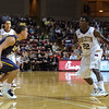 Charleston Cougars guard ANTHONY STITT (22) brings the ball up the court in an NCAA basketball game between UNCG Spartans and the College of Charleston Cougars, Saturday Feb 2, 2013 at TD Arena. (Shane Roper/Special to The Post and Courier)