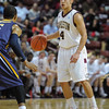 Charleston Cougars guard ANDREW LAWRENCE (4) looks for an open teammate in an NCAA basketball game between UNCG Spartans and the College of Charleston Cougars, Saturday Feb 2, 2013 at TD Arena. (Shane Roper/Special to The Post and Courier)