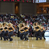Members of the Charleston Cougars dance team perform during a timeout in an NCAA basketball game between UNCG Spartans and the College of Charleston Cougars, Saturday Feb 2, 2013 at TD Arena. (Shane Roper/Special to The Post and Courier)