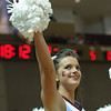 A Charleston Cougars cheerleader cheering in an NCAA basketball game between UNCG Spartans and the College of Charleston Cougars, Saturday Feb 2, 2013 at TD Arena. (Shane Roper/Special to The Post and Courier)