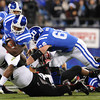 \during the first half of the 2012 NCAA Belk Bowl between the Cincinnati Bearcats and the Duke Blue Devils at Bank of America Stadium.