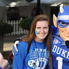 Duke Fan prior to the 2012 NCAA Belk Bowl between the Cincinnati Bearcats and the Duke Blue Devils at Bank of America Stadium.