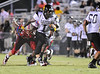 Goose Creek WR (1) Tramel Terry runs past Fort Dorchester defenders for a TD Friday night.