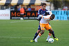 Houston Dynamo midfielder Boniek Garcia (27) blocks the ball from Chicago Fire defender Gonzalo Segares (13) during an MLS exhibition between the Chicago Fire and the Houston Dynamo during opening night of the Carolina Challenge Cup at Blackbaud Stadium.