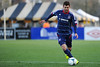 Chicago Fire defender Gonzalo Segares (13) dribbles the ball during an MLS exhibition between the Chicago Fire and the Houston Dynamo during opening night of the Carolina Challenge Cup at Blackbaud Stadium.