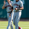 Hickory Crawdads outfielder Ryan Cordell (13), Hickory Crawdads first baseman Ronald Guzman (22)