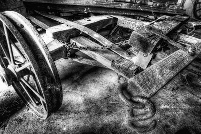 Wagon Nash Farm - Monochrome