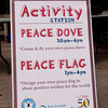 Mini Peace Doves and The Peace Flag Project<br /> Photo Credit: Saul Blumenthal/JGI