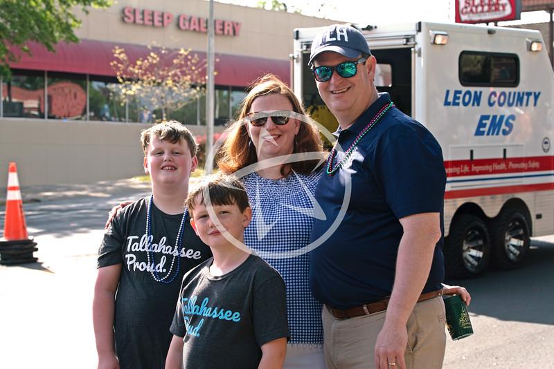 Mayor John E. Dailey and family at the Springtime Tallahassee Parade.