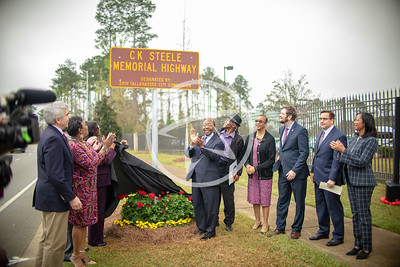 Unveiling of C.K Steele Memorial Highway with City of Tallahassee Leadership.