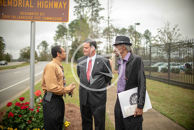 Mayor John E. Dailey at the C.K. Steele Memorial Highway dedication.
