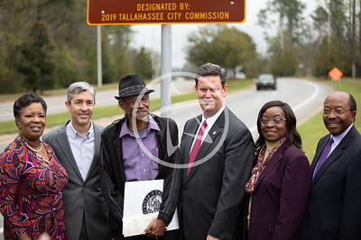 C.K Steele Memorial Highway dedication with (L to R) Cynthia Barber, Reese Goad, Derek Steele, Mayor John E. Dailey, Commissioner Dianne Williams-Cox and Curtis Richardson. FEB 2019.