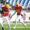 Calvert Hall senior Jake Bullington (34) punts the ball away on 4th down during the 93rd annual Turkey Bowl.