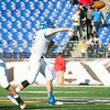 Loyola Blakefield senior and captain Jake Clise (5) throws the ball to a reciever during the 93rd annual Turkey Bowl.