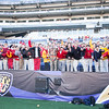 "The ""Red C,"" Calvert Hall's student fan section, was full of energy for the 93rd annual Turkey Bowl."