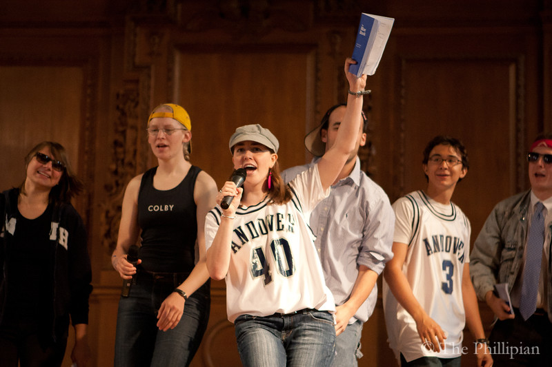 Faculty perform at All School Meeting on 5/4/11. (J. Qu)