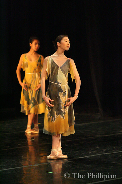 """Andover Dance Group performs """"Appalachian Spring,"""" a modern dance concert directed by Judith Wombwell, instructor in theatre and dance. (J. Qu)"""