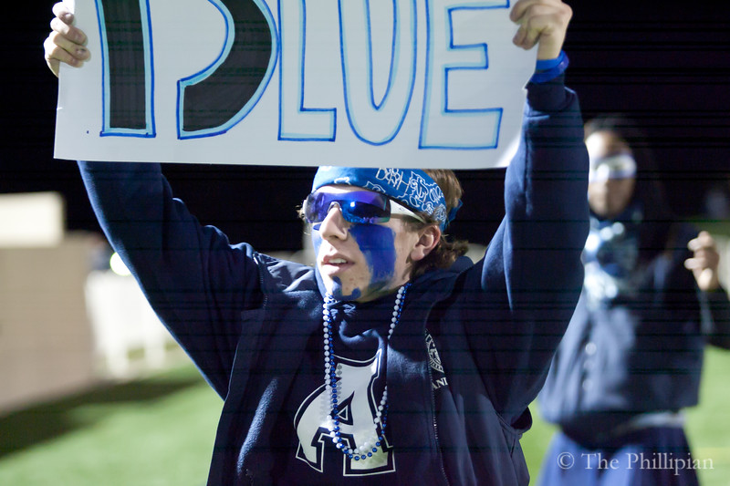 Students gather for the fall pep rally on 11/12/10. (J. Qu)