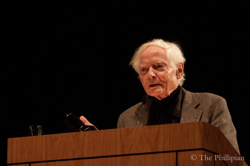 U.S. poet laureate W.S. Merwin gave a reading at Phillips Academy on May 6, 2011. (S. Moreland)