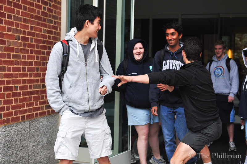 Seniors partake in the annual tradition of Senior Spooning, which began May 10, 2011. (M. Liu/The Phillipian)