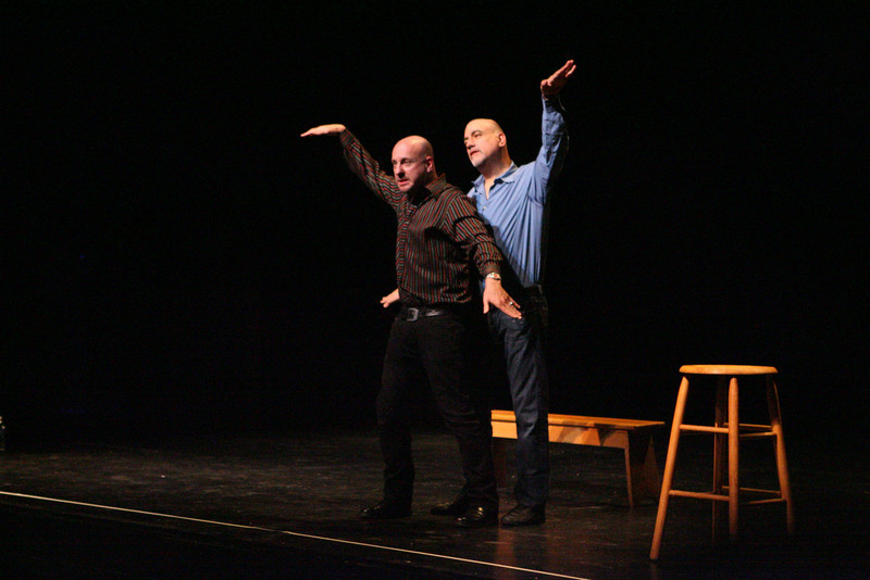 Two Men Talking perform at Phillips Academy Andover. (J. Qu)