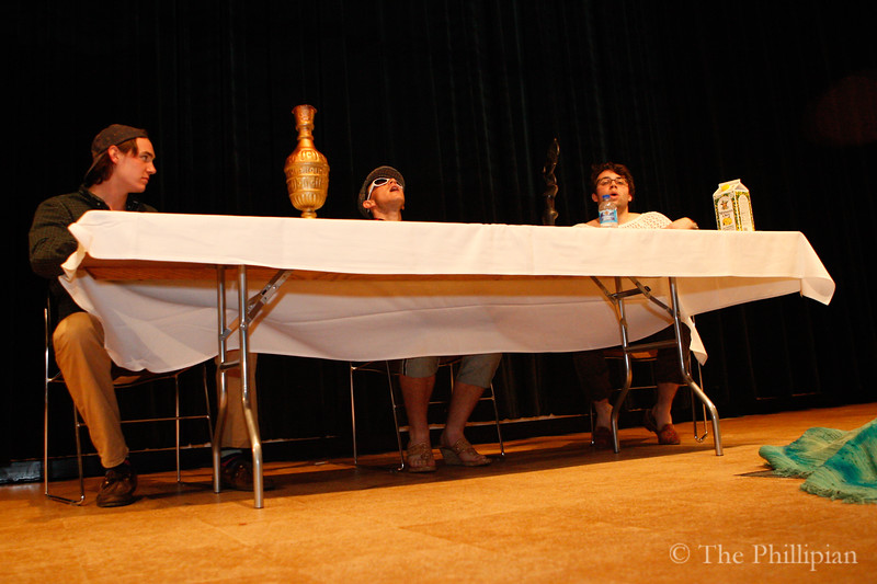 Improv troupe Under the Bed performed for students at the annual Andover Night Live show on May 14, 2011. (J. Qu/The Phillipian)