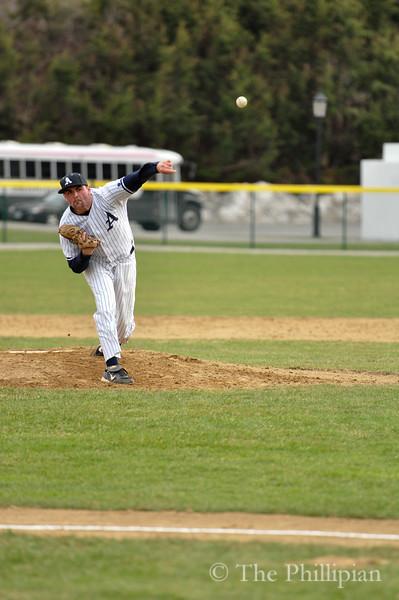 Boys Varsity Baseball competed against Bridgton Academy on April 8, 2011. Andover won 1-0. (M. Liu/The Phillipian)