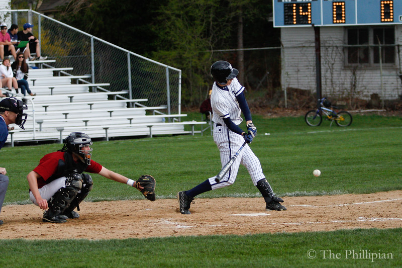 Boys Varsity Baseball competed in a double header against Northfield Mount Hermon on April 30, 2011. Andover won both games 10-3 8-5. (S. Moreland/The Phillipian)