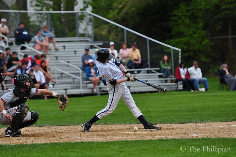 Boys Varsity Baseball competed in a double header against Phillips Exeter Academy on May 7, 2011. Andover lost 3-5, then won 7-0. (M. Liu/The Phillipian)