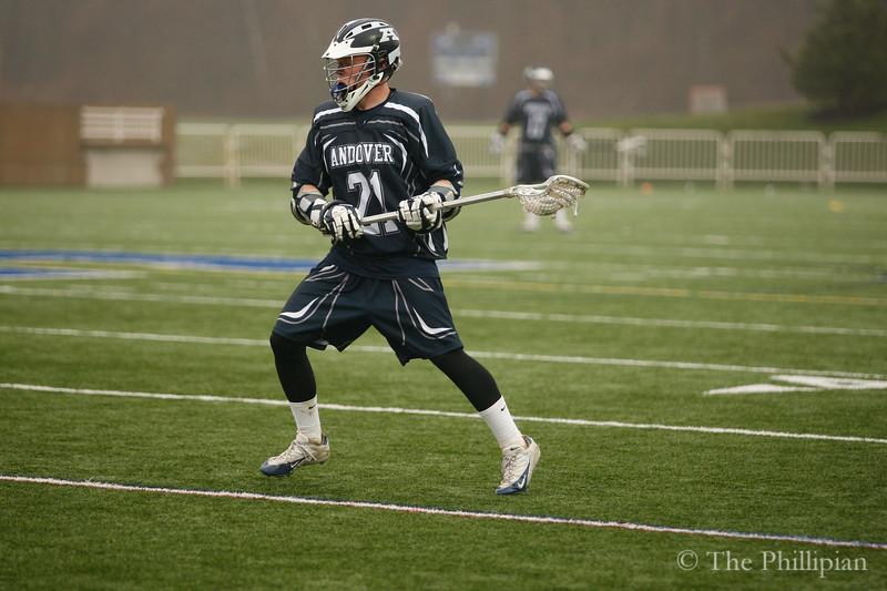 Boys Varsity Lacrosse compete against Bridgton Academy on 4/23/11. Andover lost 5-11. (J. Qu)