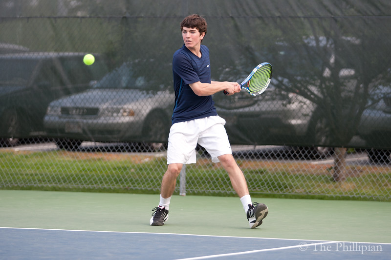 Boys Varsity Tennis competed against Choate Rosemary Hall on May 14, 2011. Andover won 7-0. (J. Qu/The Phillipian)
