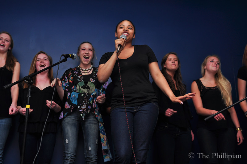 Students performed at coffeehouse in April 2011. (M. Liu/The Phillipian)