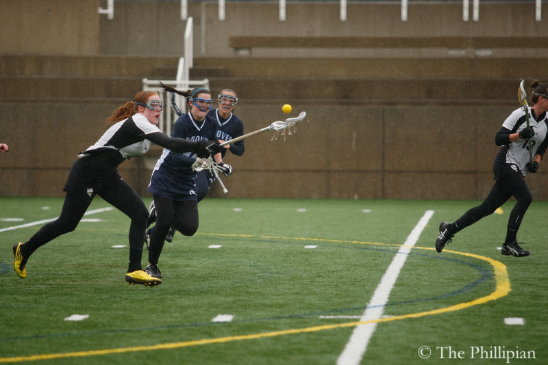 Girls Lacrosse compete against Groton School on 4/23/11. Andover lost 10-13. (J. Qu)